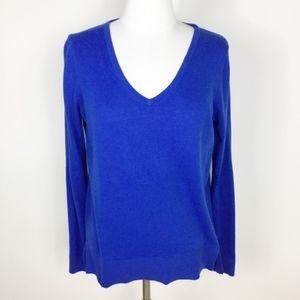 Loft Cobalt Blue V-Neck Sweater sz. Small
